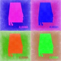 Alabama Pop Art Map 2 Fine-Art Print