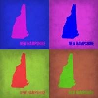 New Hampshire Pop Art Map 1 Fine-Art Print