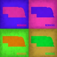 Nebraska Pop Art Map 1 Fine-Art Print
