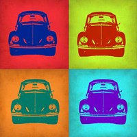 VW Beetle Front Pop Art 1 Fine-Art Print