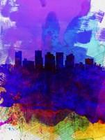 Phoenix Watercolor Skyline 1 Fine-Art Print