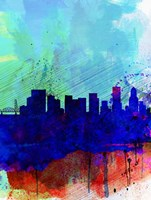 Portland Watercolor Skyline Fine-Art Print