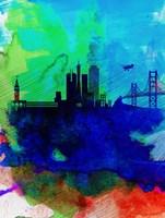 San Francisco Watercolor Skyline 2 Fine-Art Print