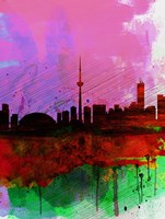 Toronto Watercolor Skyline Fine-Art Print