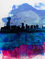 Vancouver Watercolor Skyline Fine-Art Print