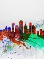 Dallas Watercolor Skyline Fine-Art Print