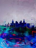 Las Vegas Watercolor Skyline Fine-Art Print