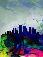 New Orleans Watercolor Skyline Fine-Art Print