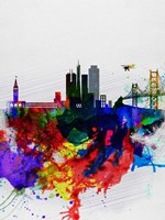 San Francisco Watercolor Skyline 1 Fine-Art Print
