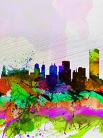 Buffalo Watercolor Skyline Fine-Art Print