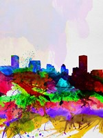 Baltimore Watercolor Skyline Fine-Art Print