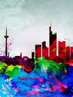 Frankfurt Watercolor Skyline Fine-Art Print