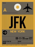 JFK New York Luggage Tag 3 Fine-Art Print