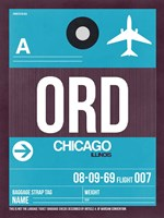 ORD Chicago Luggage Tag 1 Fine-Art Print