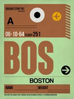 BOS Boston Luggage Tag 1 Fine-Art Print