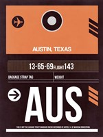 AUS Austin Luggage Tag 2 Fine-Art Print