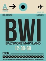 BWI Baltimore Luggage Tag 1 Fine-Art Print
