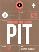PIT Pittsburgh Luggage Tag 2 Fine-Art Print