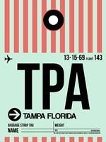 TPA Tampa Luggage Tag 1 Fine-Art Print