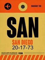 SAN San Diego Luggage Tag 1 Fine-Art Print