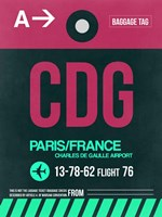 CDG Paris Luggage Tag 1 Fine-Art Print