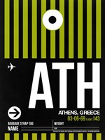 ATH Athens Luggage Tag 2 Fine-Art Print