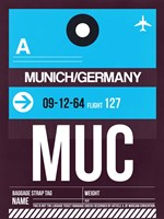 MUC Munich Luggage Tag 1 Fine-Art Print