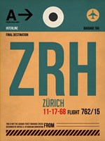 ZRH Zurich Luggage Tag 1 Fine-Art Print