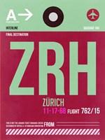 ZRH Zurich Luggage Tag 2 Fine-Art Print