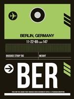 BER Berlin Luggage Tag 2 Fine-Art Print