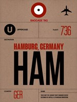 HAM Hamburg Luggage Tag 1 Fine-Art Print