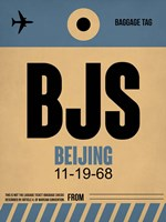 BJS Beijing Luggage Tag 2 Fine-Art Print