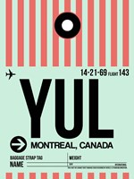 YUL Montreal Luggage Tag 2 Fine-Art Print