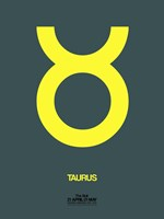 Taurus Zodiac Sign Yellow Fine-Art Print