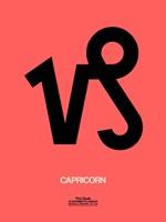 Capricorn Zodiac Sign Black Fine-Art Print