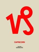 Capricorn Zodiac Sign Red Fine-Art Print