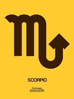 Scorpio Zodiac Sign Brown Fine-Art Print