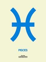 Pisces Zodiac Sign Blue Fine-Art Print