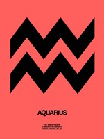 Aquarius Zodiac Sign Black Fine-Art Print