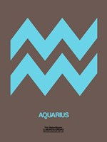 Aquarius Zodiac Sign Blue Fine-Art Print