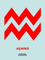 Aquarius Zodiac Sign Red Fine-Art Print