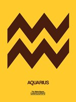 Aquarius Zodiac Sign Brown Fine-Art Print