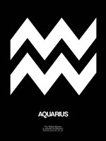 Aquarius Zodiac Sign White Fine-Art Print