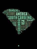 South Carolina Word Cloud 2 Fine-Art Print