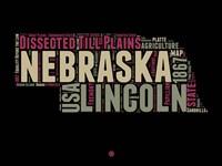 Nebraska Word Cloud 1 Fine-Art Print
