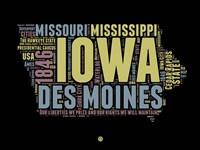 Iowa Word Cloud 1 Fine-Art Print