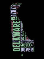 Delaware Word Cloud 1 Fine-Art Print