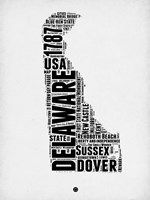 Delaware Word Cloud 2 Fine-Art Print