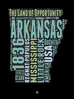 Arkansas Word Cloud 1 Fine-Art Print