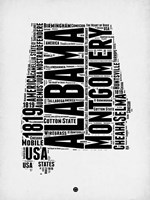 Alabama Word Cloud 2 Fine-Art Print